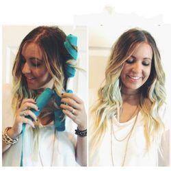 DIY8Pc/set Pengeriting Rambut Tidur Rol Styler Kit Katun Panjang Warna Sihir Rambut Berpakaian DIY Styling Alat Biru Menawan gaya rambut