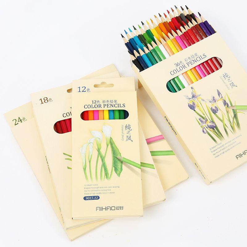 Nature histoire crayons de couleur pour le dessin 36 différentes couleurs Crayon ensemble Crayon papeterie bureau fournitures scolaires lapices 6988