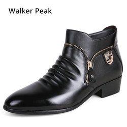 Merek Kulit Pria Gaun Sepatu kulit Asli Sepatu Kanvas Oxford Sepatu untuk Pria Desain Mewah Pria Kasual Sepatu Datar Walker Peak