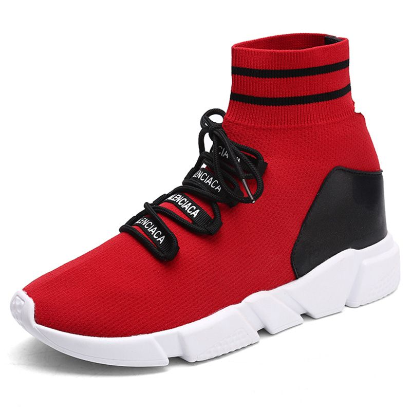 2018 Womens Walking Shoes Breathable Outdoor Sport Shoes Light Weight Travel Shoes Red Black For Women Free Shipping gs8898