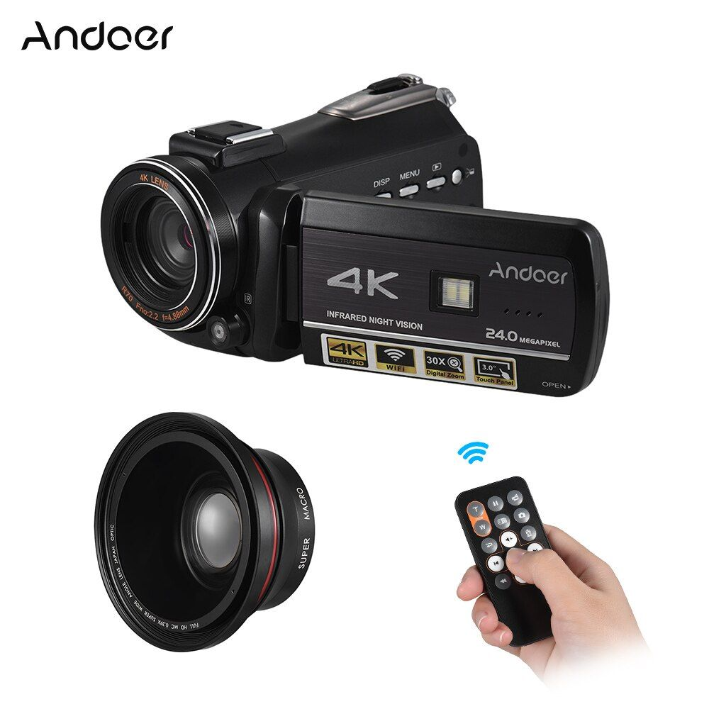 Andoer 4K Digital Video Camera Fotografica Profissional Camera Cam Portable Digital DV Recorder Camara/ household Video Kamera