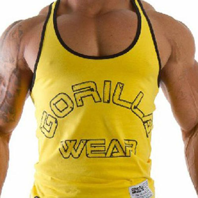 E0475 Men's Muscle Tank Tops for Gym Fitness Bodybuilding Cotton Professional Sports running  training Vest Multi color optional