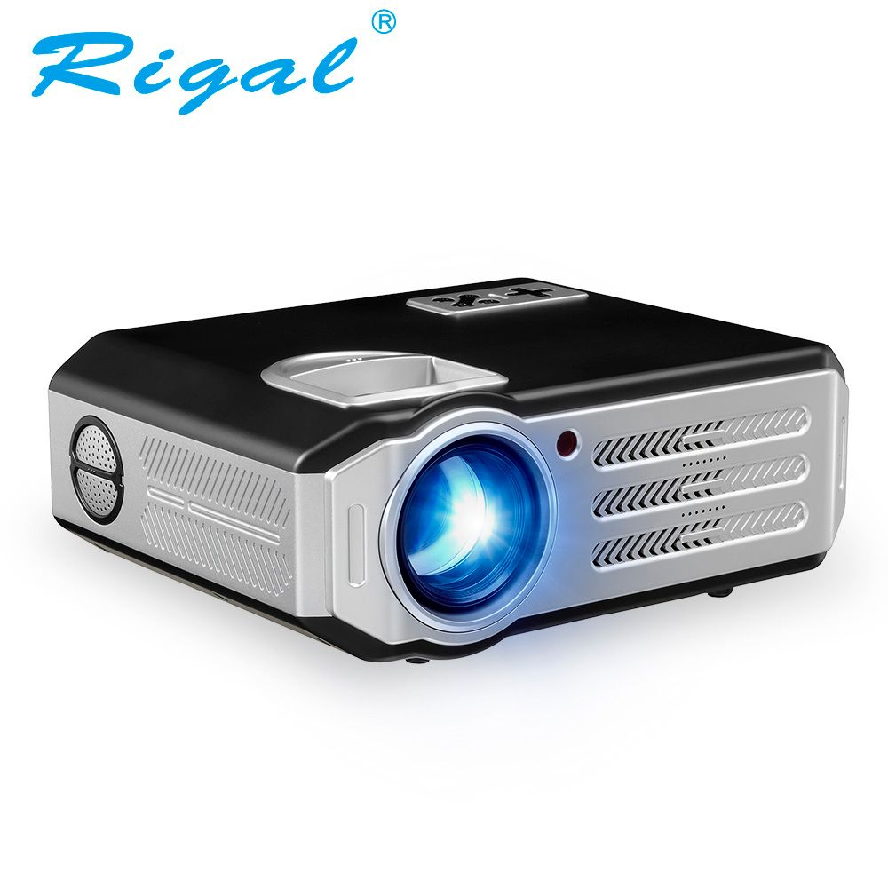Rigal RD817 Android 6.0 WiFi Projector 3500 Lumens Full HD 1080P Home Theater LCD Beamer HDMI USB VGA AV Video LED LCD Projector