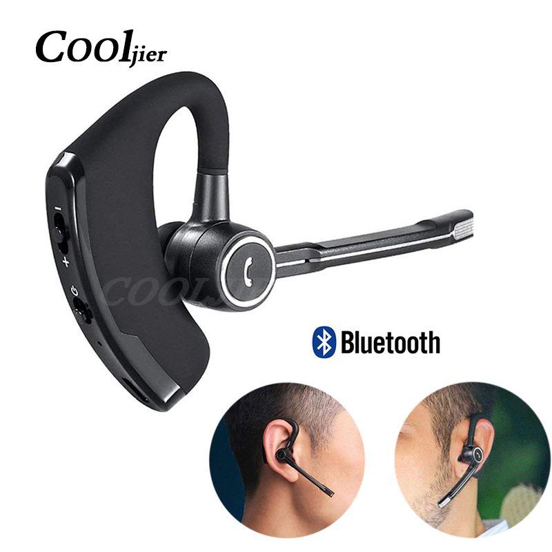 COOLJIER D'affaires Sans Fil Bluetooth Écouteurs Voiture Bluetooth Mains Libres Stéréo crochet d'oreille Casque avec Micro Bruit Annulation écouteurs