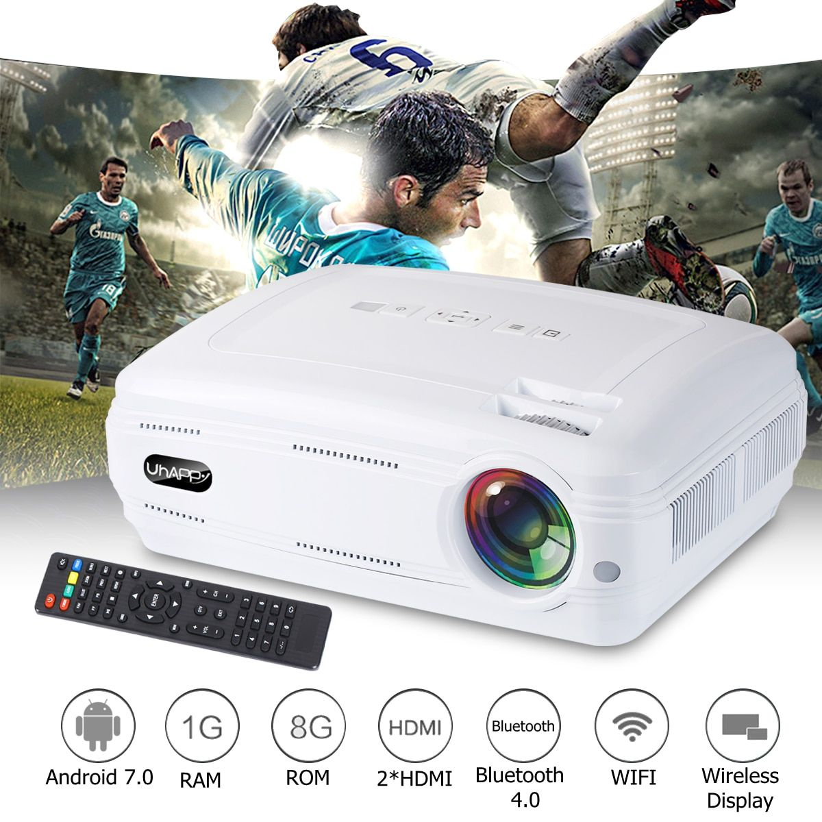 10000 lumen 1080 p Mini Projektor 3D LED Home Cinema Theater Projektor TV/AV/VGA/HD Beamer für Home Theatre Film