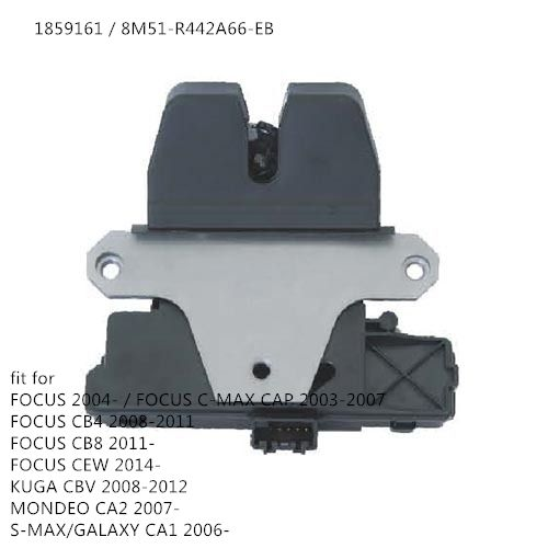 free shipping for FORD FOCUS MK2 KUGA MONDEO SMAX TAILGATE LOCK CATCH LATCH 1859161 8M51-R442A66-EB  Without Cover