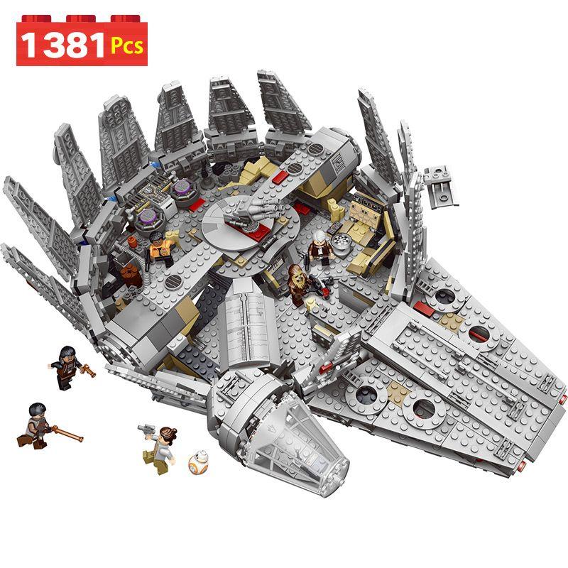 Étoiles Millennium Falcon Chiffres Guerres Modèle Blocs de Construction Inoffensif Briques Éclairer Compatible LegoINGLYS StarWars 10179 Jouet