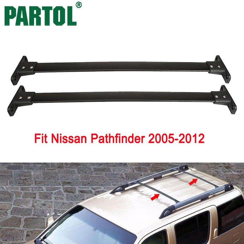 Partol Car Roof Rack Crossbars Cross Bar Roof Luggage Carrier Roof Rail For Nissan Pathfinder 2005 2006 2007 2008 2009 2010-2012