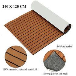 120 cm x 240 cm x 5mm autoadhesivo espuma EVA Faux hoja de teca barco yate sintético cubiertas de teca marrón y Negro al por mayor