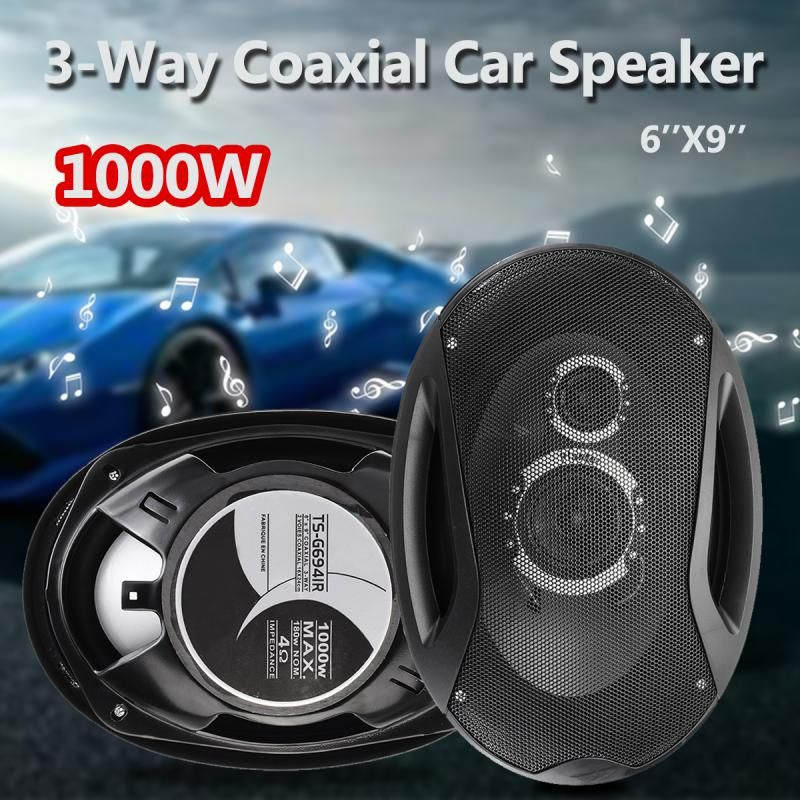 2pcs 12V 1000W 6''x9'' 3-Way Twin Tone Auto Car Door Shelf Coaxial Speakers High Frequency Hifi Subwoofers Sound Loudspeaker
