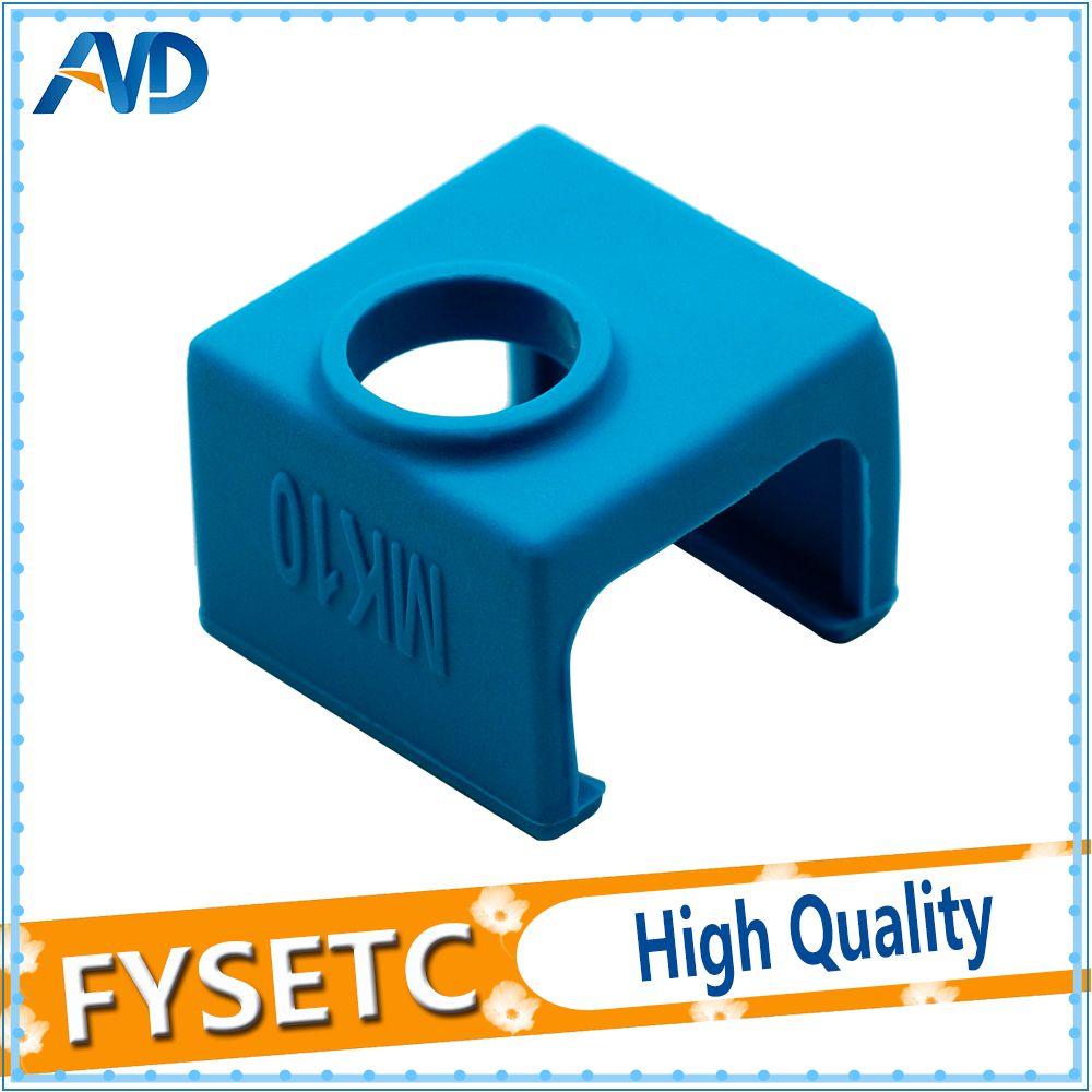 1PC MK10 Blue Silicone Sock Silicone Heater Block Cover For Wanhao i3 QIDI TECH Flashforge Instead Ceramic Insulation