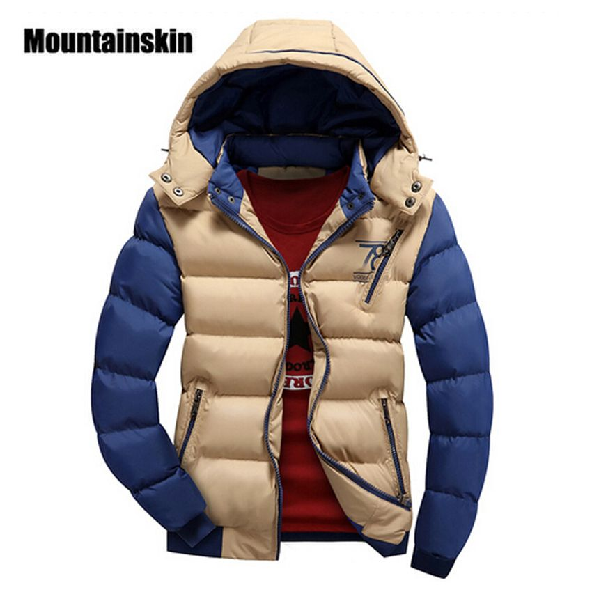 Mountainskin 2017 4XL Jacket Men's Parkas Thick Hooded Coats Men Thermal Warm Casual Jackets Male Outerwear Brand Clothing SA076