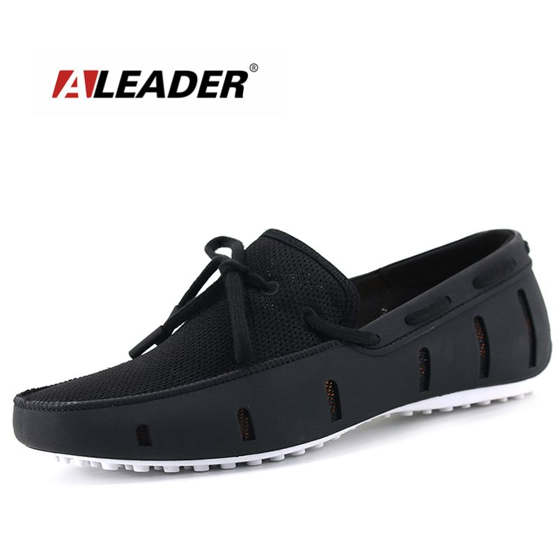 Aleader High Quality Mens Loafers Casual Fashion Men Shoes Flats Breathable Men Slip On Driving Shoes Big Size Swims Loafers