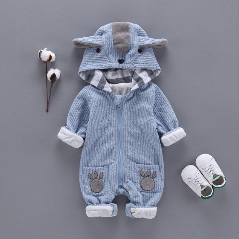 Autumn & Winter Newborn Infant Baby Clothes Fleece Jumpsuit Boys Romper Hooded Jumpsuit koala Baby Bebe Menino Macacao