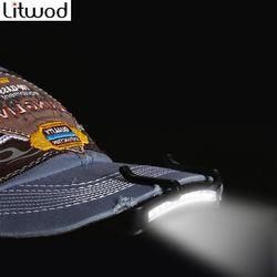 Litwod Z20 super brillante 11 luz LED faro cabeza linterna cap sombrero Clip en luz pesca lámpara de cabeza