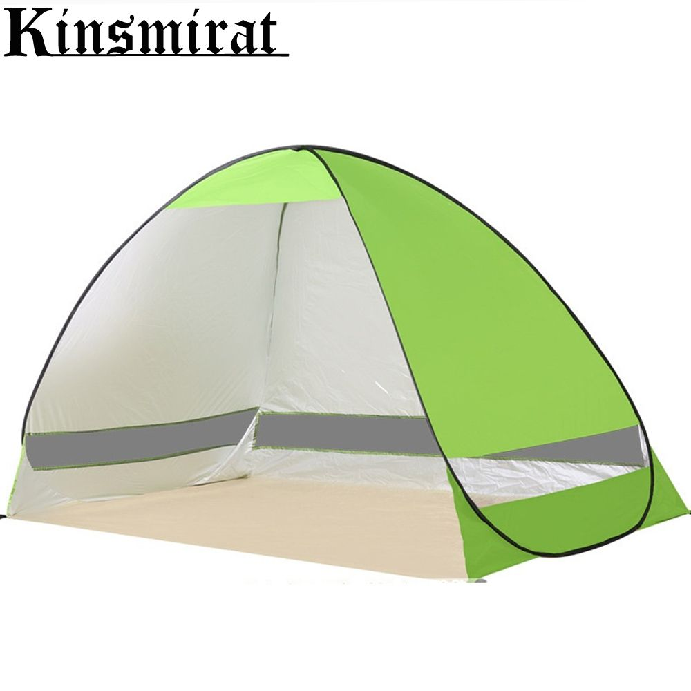 Foldable tent Anti-UV lightwight Pop Beach tent sun shelter quick open tent shade for outdoor camping fishing bbq