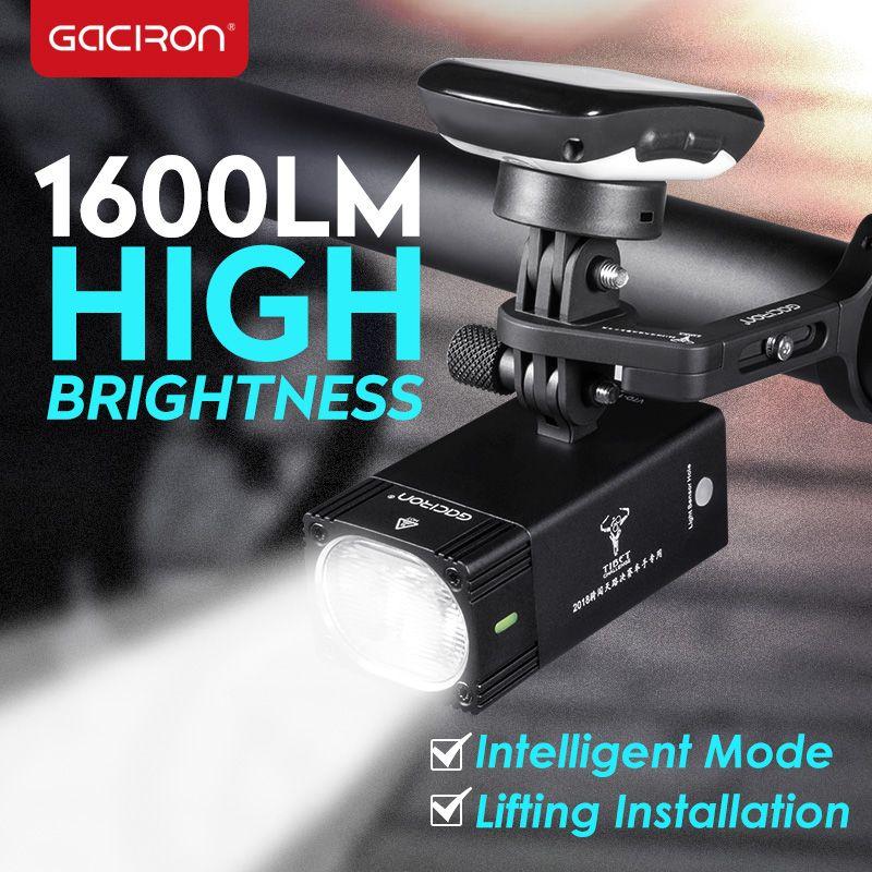 GACIRON 1000 1600 Lumen Fahrrad Licht Fahrrad Scheinwerfer Mit Halterung Halter Wasserdicht Wiederaufladbare Fahrrad Taschenlampe Rennen Zubehör
