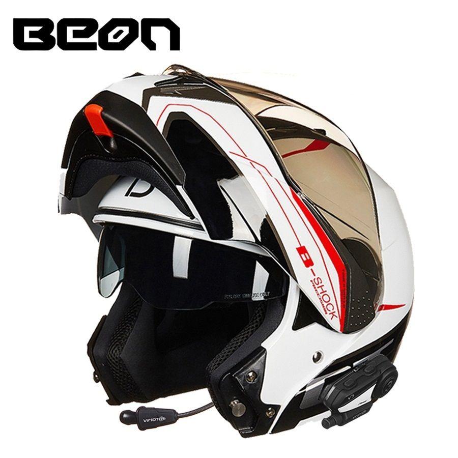 Free shipping 1pcs Motorcycle Street Bike Bluetooth Helmet Dual Visor Flip Up Motocross Racing Dot Full Face Motorcycle Helmets