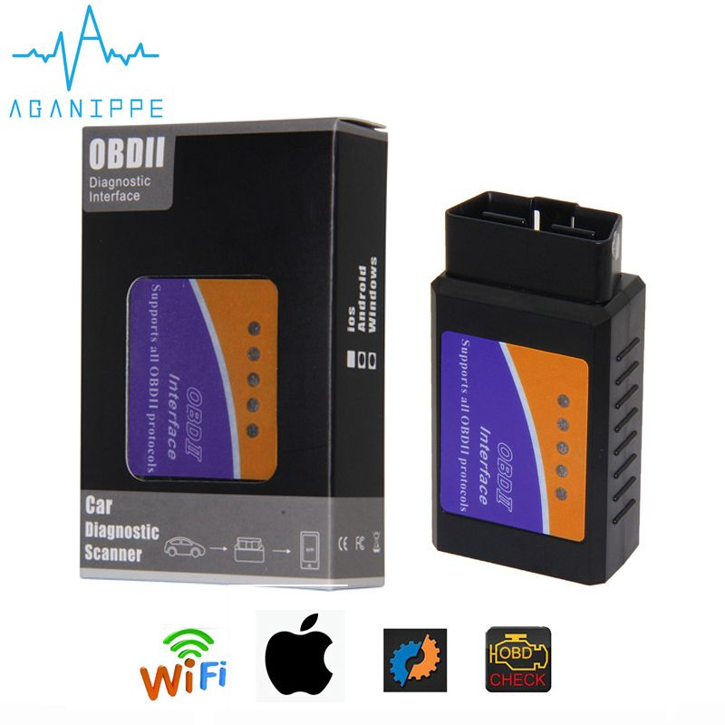 Scanner automatique de voiture de Diagnostic d'elm327 Wi-fi OBD2 V1.5 avec la meilleure puce Elm 327 Wifi OBD approprié aux fenêtres d'ios Android/iPhone