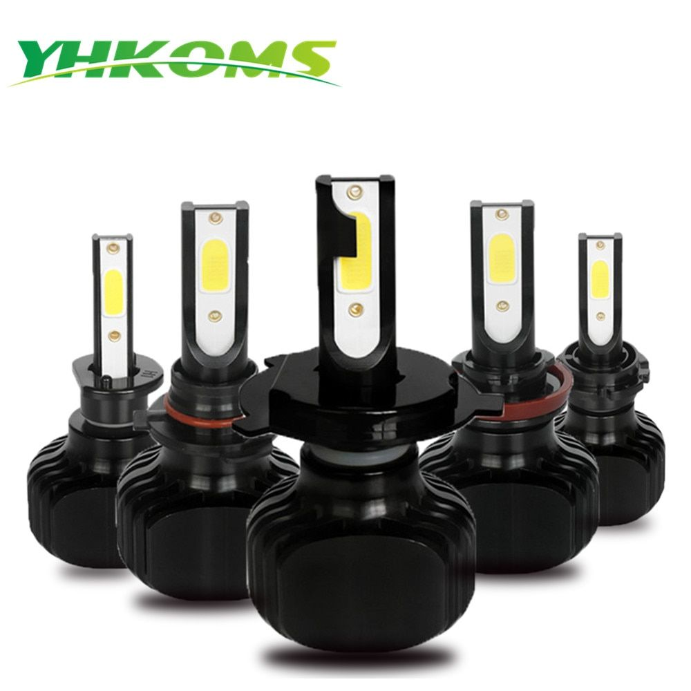 YHKOMS D1S D2S D3S D4S LED H1 H3 H4 H8 H9 H11 H13 H16 9005 HB3 9006 HB4 5202 880 881 H27 Car LED Light Bulb 6000K White Light