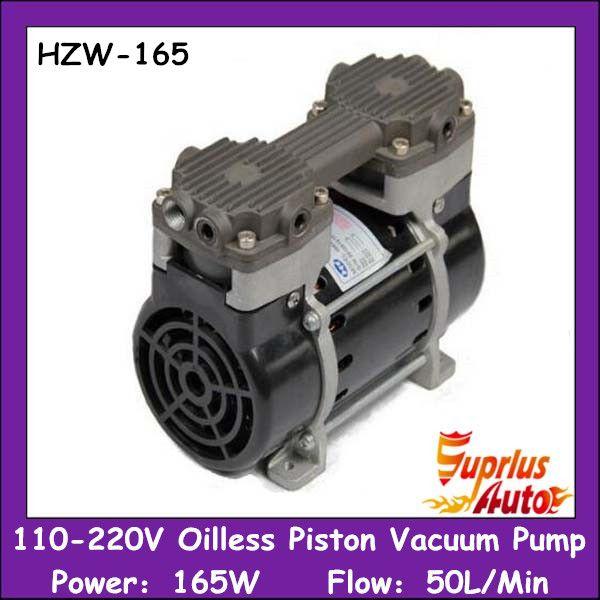 HZW-165 110/220v Silent Oilless Piston Vacuum Pump 165W with 50L/min vacuum flow