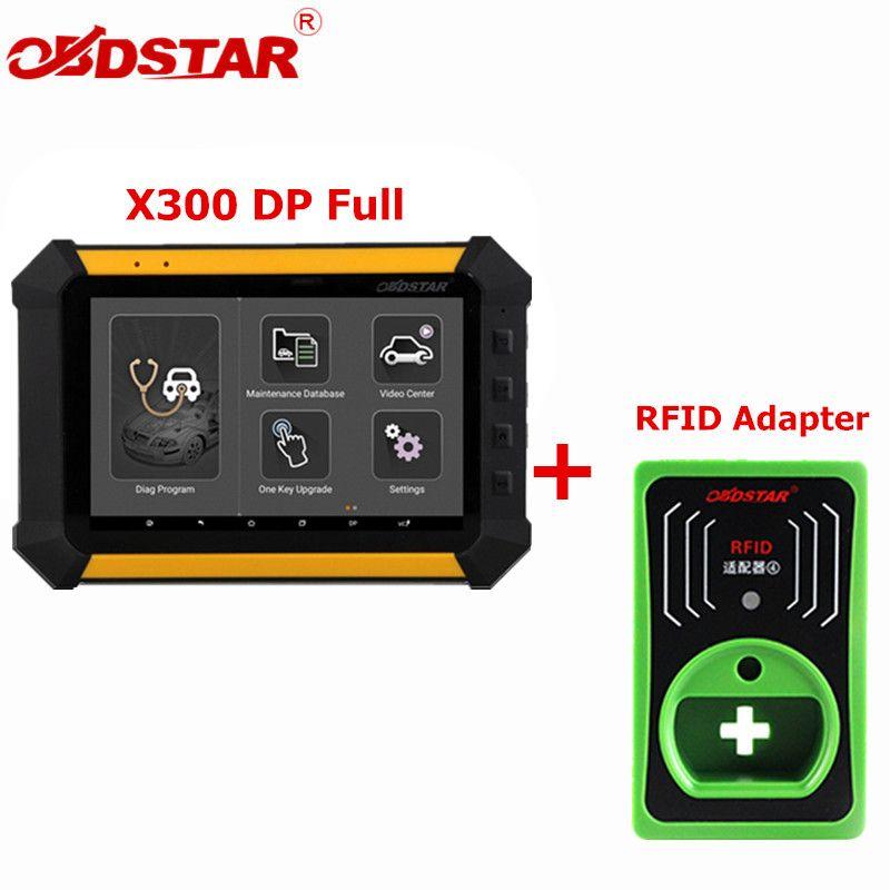OBDSTAR X300 DP X-300DP PAD Tablet Key Programmer Full Configuration Auto Diagnostic Program Tool X300 DP Plus RFID Adapter