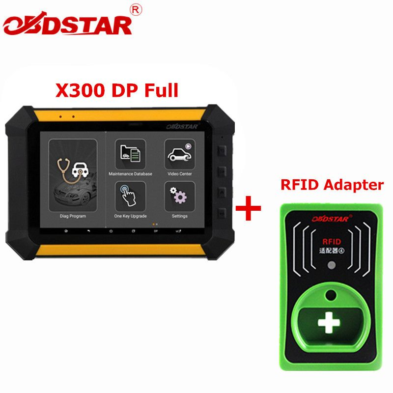 OBDSTAR X300 DP X-300DP PAD Tablet Key Programmer Full Configuration Auto Diagnostic Program Tool X300 DP Plus RFID Adapter
