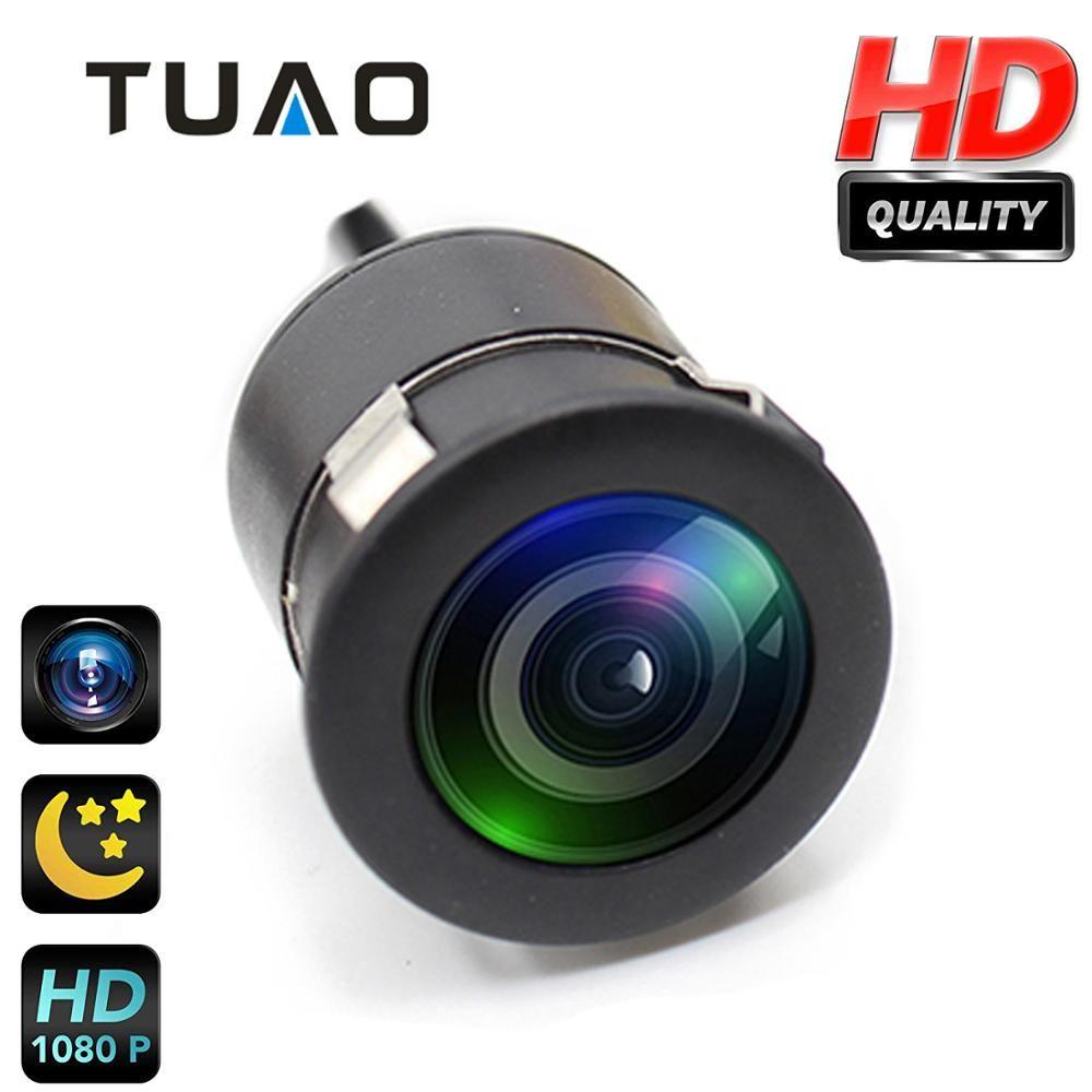 Caméra de recul TUAO 18.5mm HD CCD Vision nocturne 145 caméra de recul de voiture d'angle IP67 DC 12 caméra de stationnement universelle