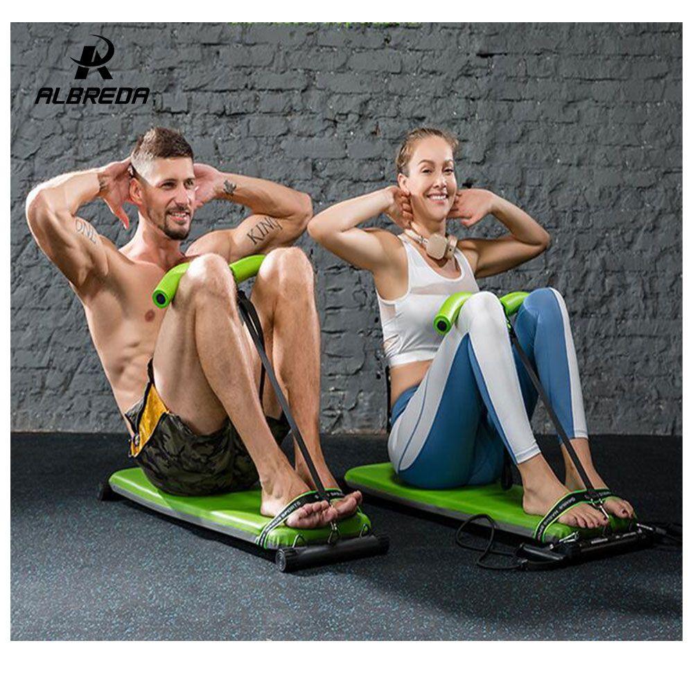 ALBREDA NEUE Fitness Maschinen Für Zu Hause Sitzen Bauch Bank fitness Board Pull seil bauch Exerciser Ausrüstungen Gym Training