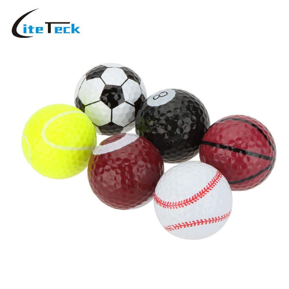 Оптовая продажа Мячей Для Гольфа Новый Двойной Мяч Из Двух Частей Мяч Для Гольфа Оборудование 6 шт./пакет