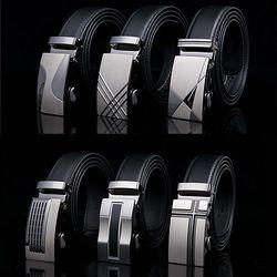 Для мужчин S Бизнес Стиль ремень Дизайнер кожаный ремешок мужской ремень Автоматическая пряжка Ремни для Для мужчин Одежда высшего качеств...