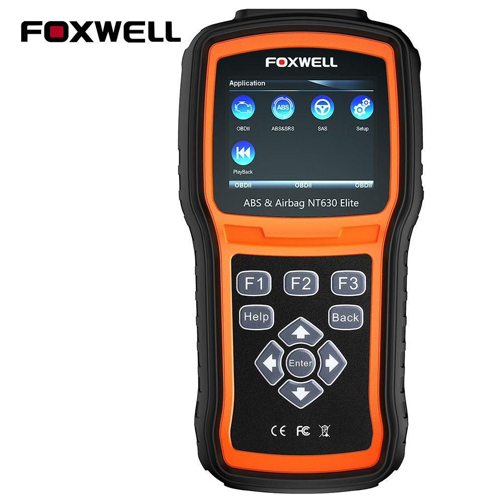 FOXWELL NT630 Elite OBD2 Scanner ABS SAS Airbag Crash Data Reset Auto Diagnostic Tool ODB2 Automotive Scanner