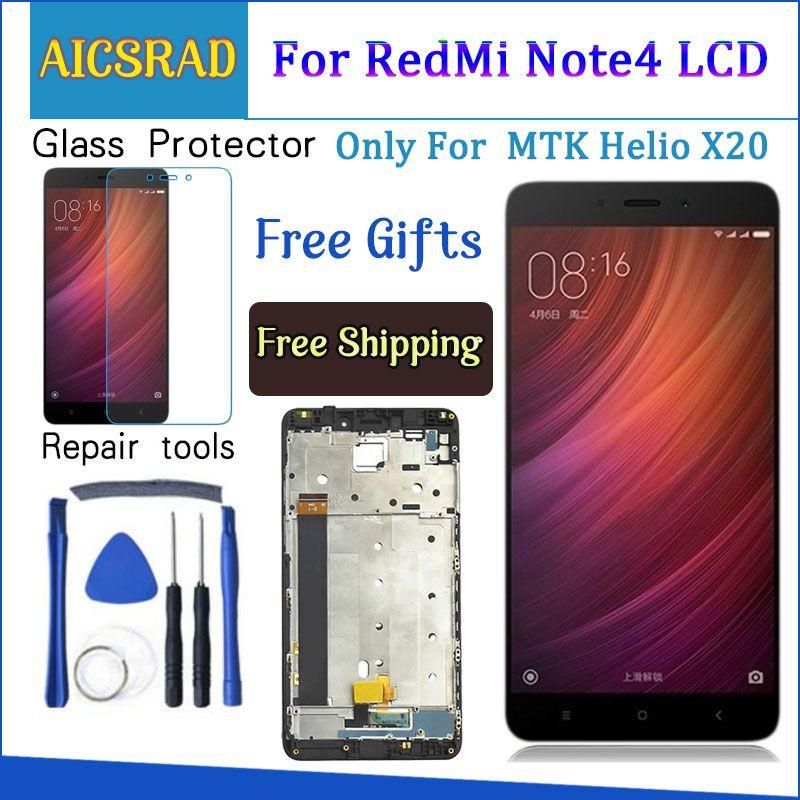 Pour Xiaomi Redmi Note 4 LCD Affichage et Écran Tactile Avec Cadre 5.5 Pouces Testé Pour Xiaomi Redmi Note 4 + outils pour MTK Helio X20