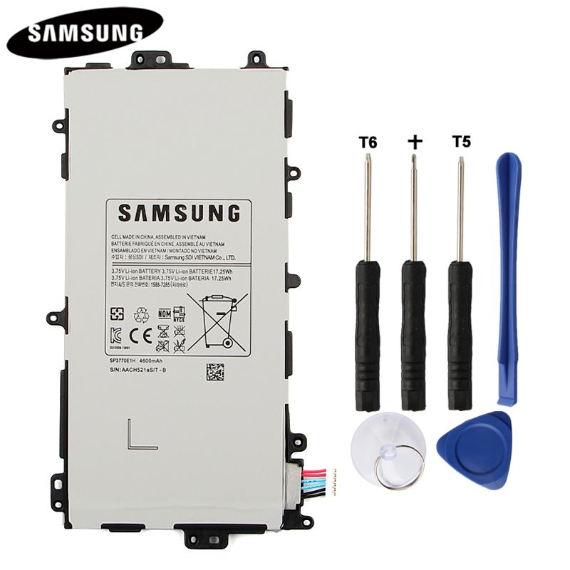 100% Original Tablet Battery SP3770E1H For Samsung N5100 N5120 <font><b>Galaxy</b></font> Note 8.0 N5110 Genuine Replacement Batteries 4600mAh