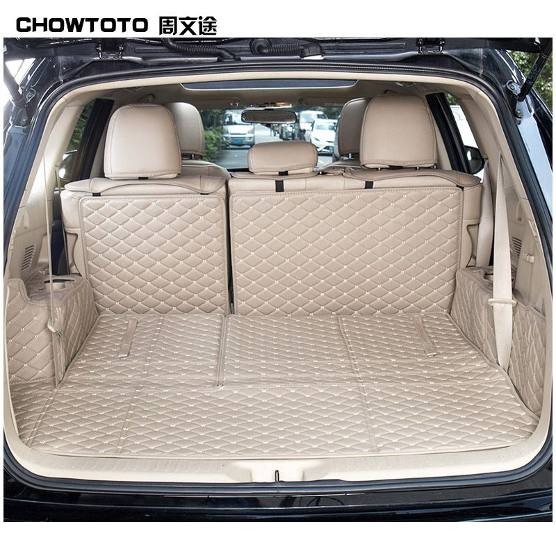 CHOWTOTO AA Special Trunk Mats For Toyota Highlander 5/7seats Durable Waterproof Carpets For Highlander 5/7 Seats Lagguge Pad