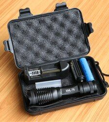 CREE XML T6 LED linterna 10000 lúmenes Lanterna alta potencia ajustable led antorcha Zoomable Linterna + cargador + 1*18650 batería