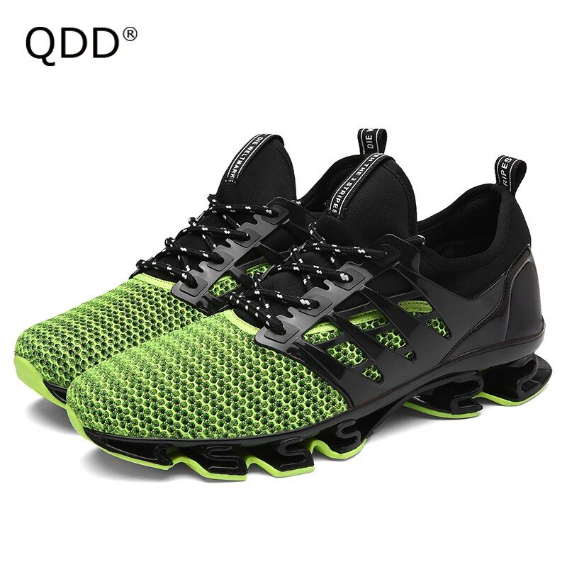 Run Your Own Shoes No <font><b>Following</b></font>! New Men Running Shoes, Bow-Blade Wearable Sole Athletic Sports Shoes, Cushioning Running Shoes