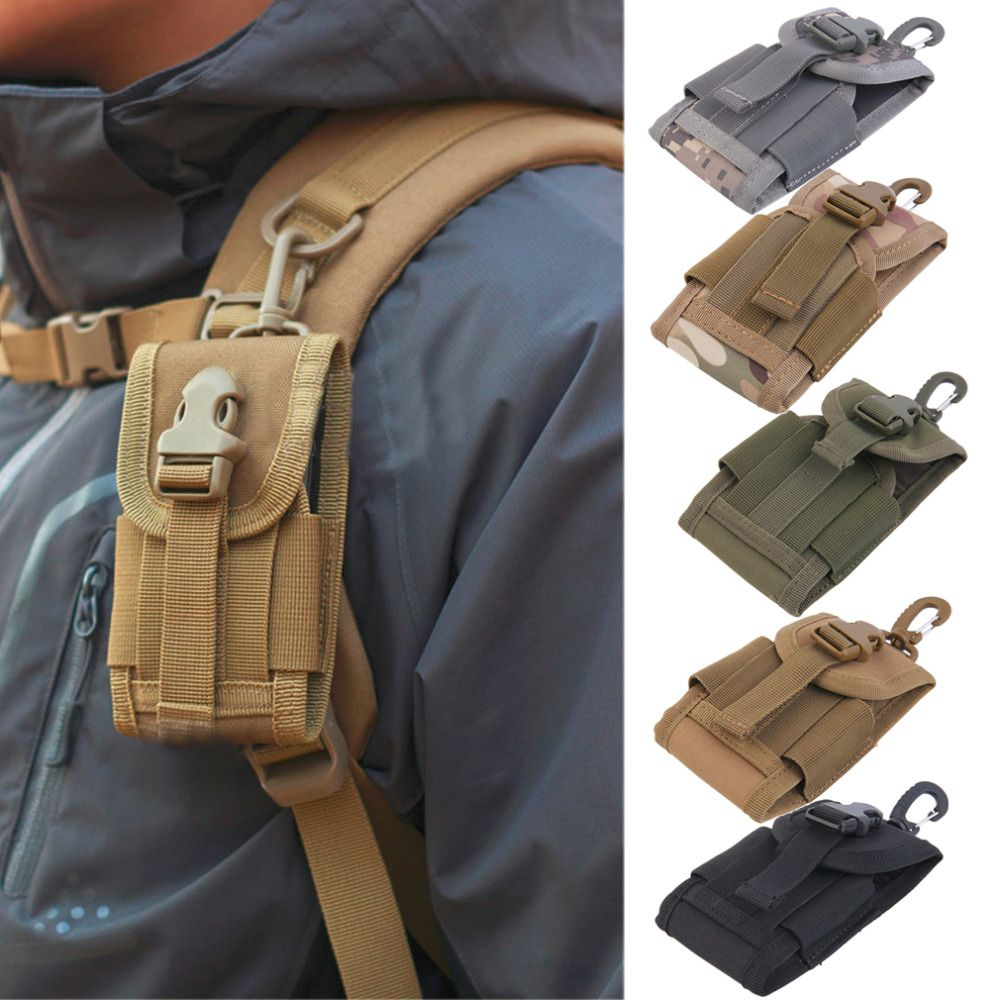 4.5 дюймов Оксфорд универсальный Армия Тактический сумка для мобильного телефона крючком чехол жесткий ношения тяжелых Бесплатная доставка