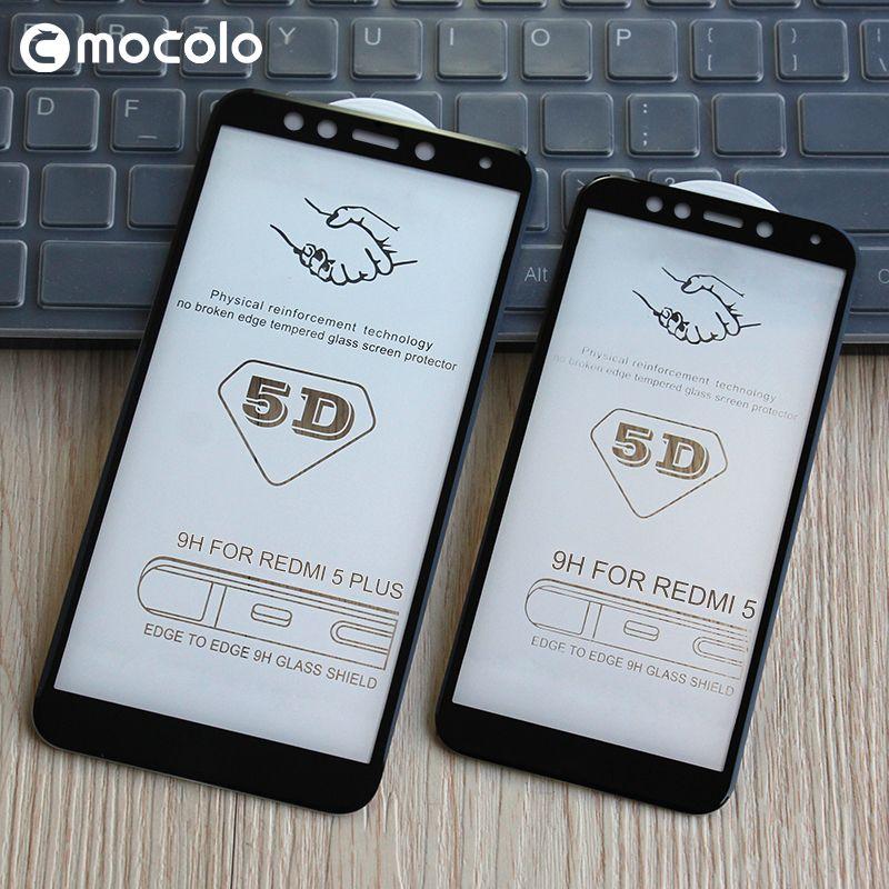 5D bord incurvé rond plein colle protecteur d'écran verre pour Xiaomi Mi6 A1 5X Mix 2 Redmi Note 4X5 5 Plus Film protecteur de couverture