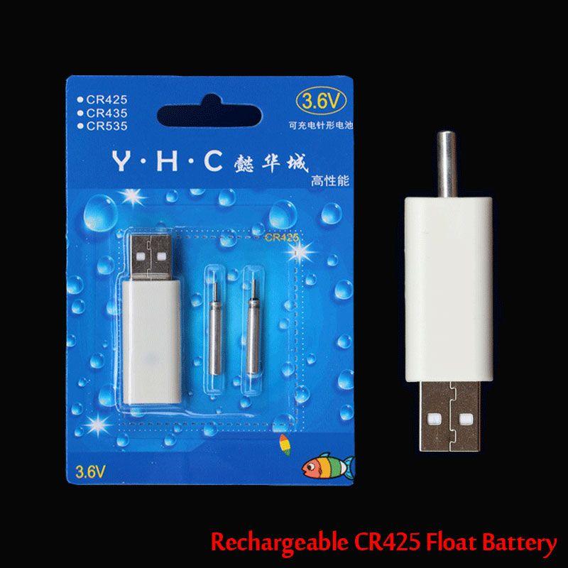 ICERIO Ein Satz Wiederaufladbare CR425 Elektronische Fischen Schwimmen Batterie für Nachtfischen Knicklicht Schwimmt