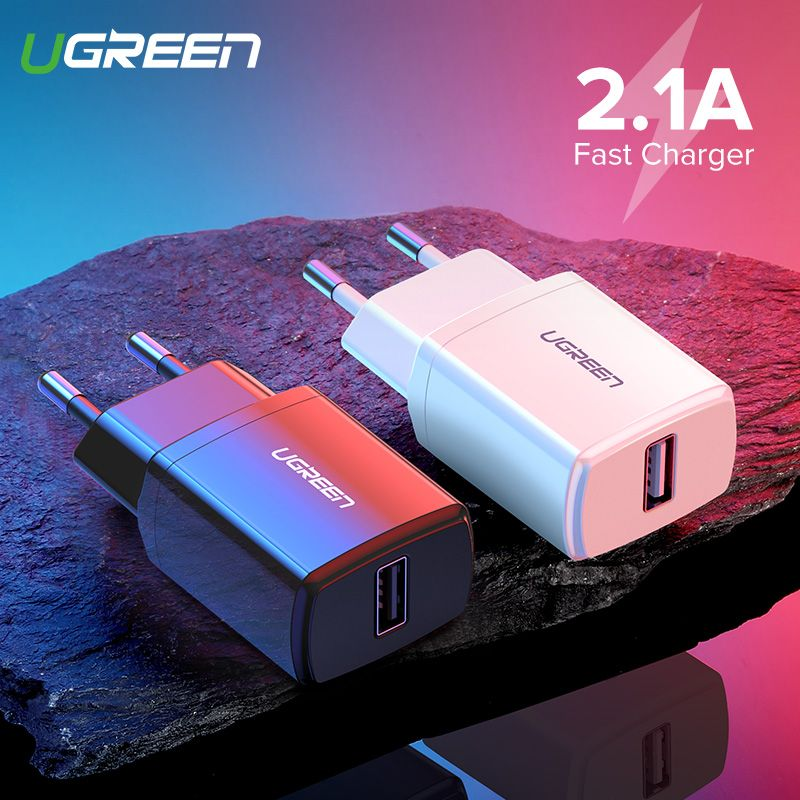 Ugreen 5V 2.1A USB Charger for iPhone X 8 7 iPad Fast Wall Charger EU Adapter for Samsung S9 Xiaomi Mi 8 Mobile Phone Charger