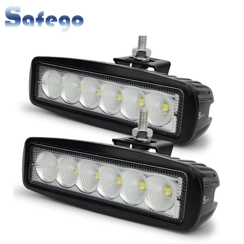 Safego 2x12 volts 18 W LED lampe de travail lampe de travail tracteur lumières de travail LED hors route 4X4 24 V LED faisceau de lumière offroad