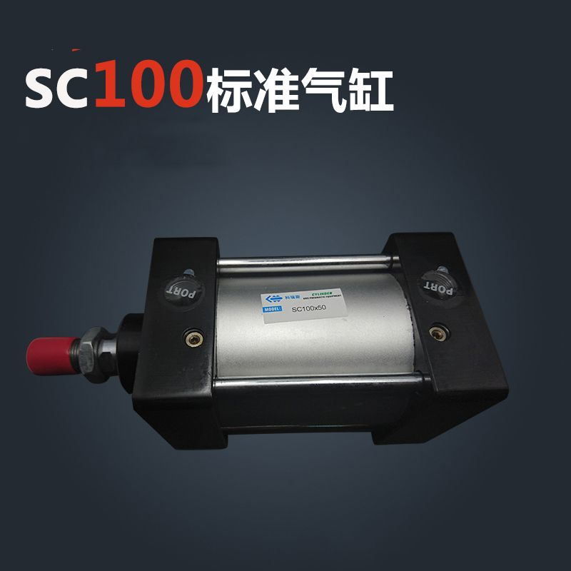 SC100*450 Free shipping Standard air cylinders valve 100mm bore 450mm stroke single rod double acting pneumatic cylinder