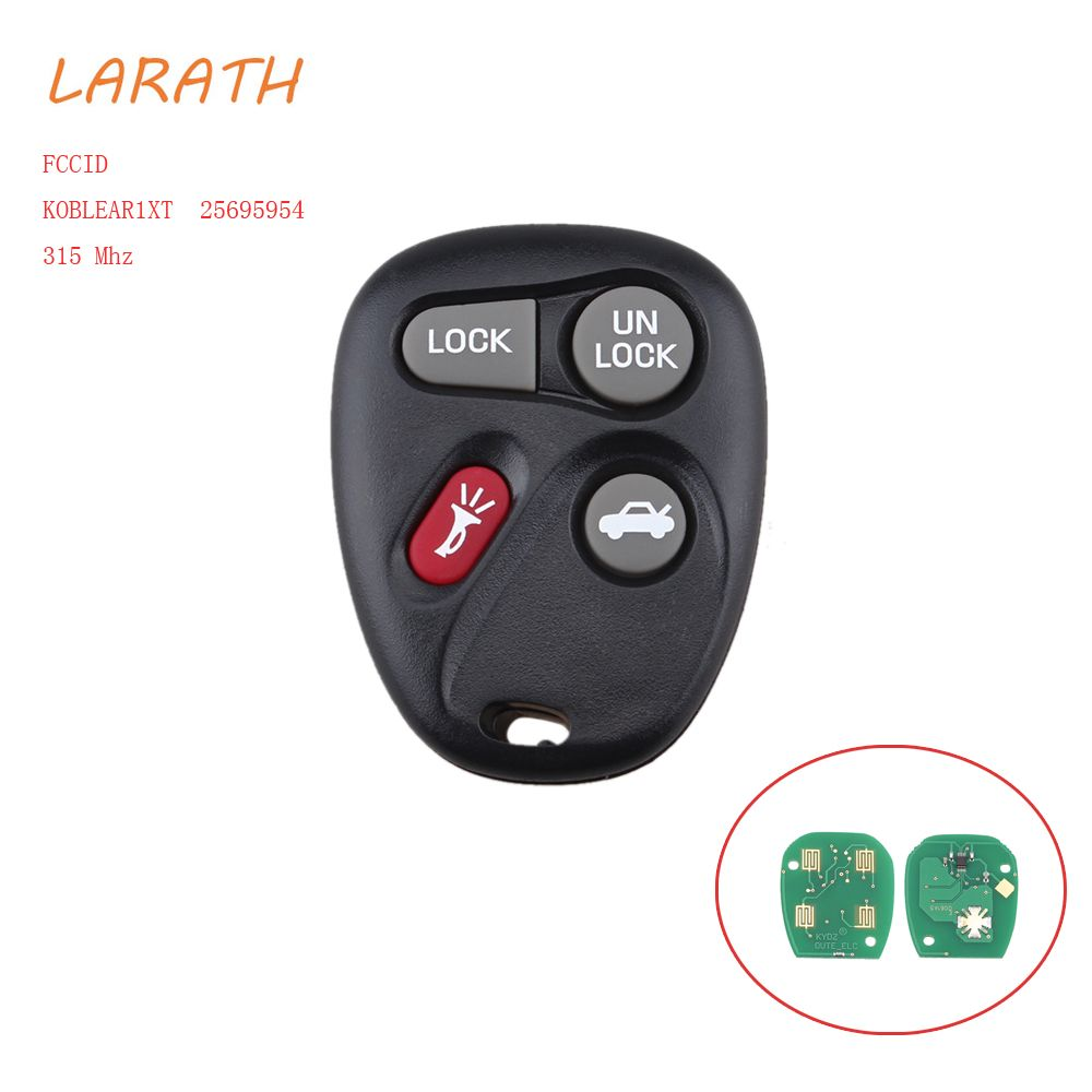 LARATH For KOBLEAR1XT 10443537  New Keyless Entry Remote Key Fob Transmitter Clicker Control 4 English button