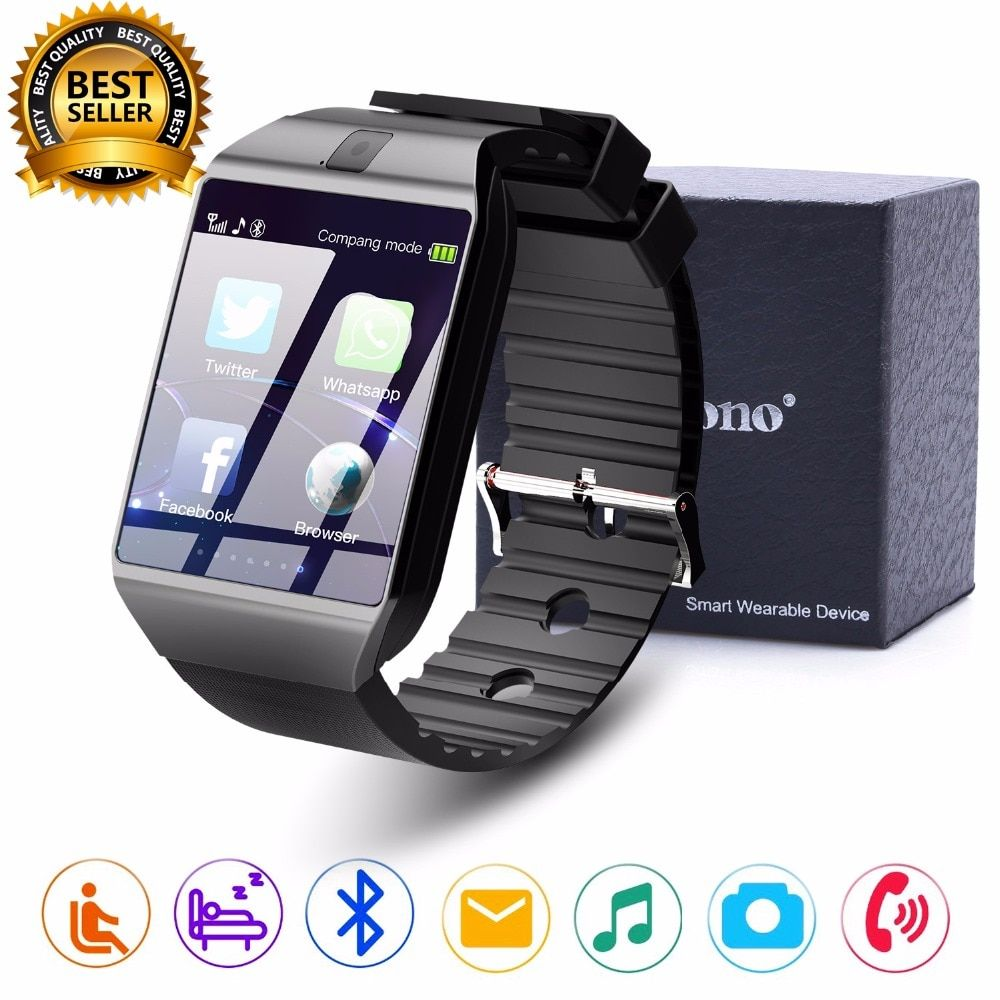 Cawono Bluetooth Smart Watch DZ09 Relojes Smartwatch Relogios TF SIM <font><b>Camera</b></font> for IOS iPhone Samsung Huawei Xiaomi Android Phone