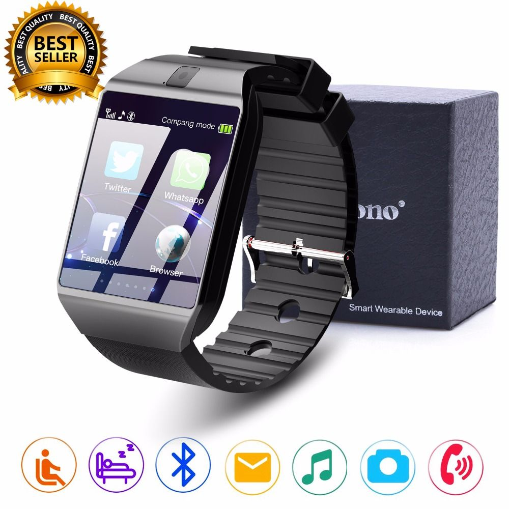 Cawono <font><b>Bluetooth</b></font> Smart Watch DZ09 Relojes Smartwatch Relogios TF SIM Camera for IOS iPhone Samsung Huawei Xiaomi Android Phone