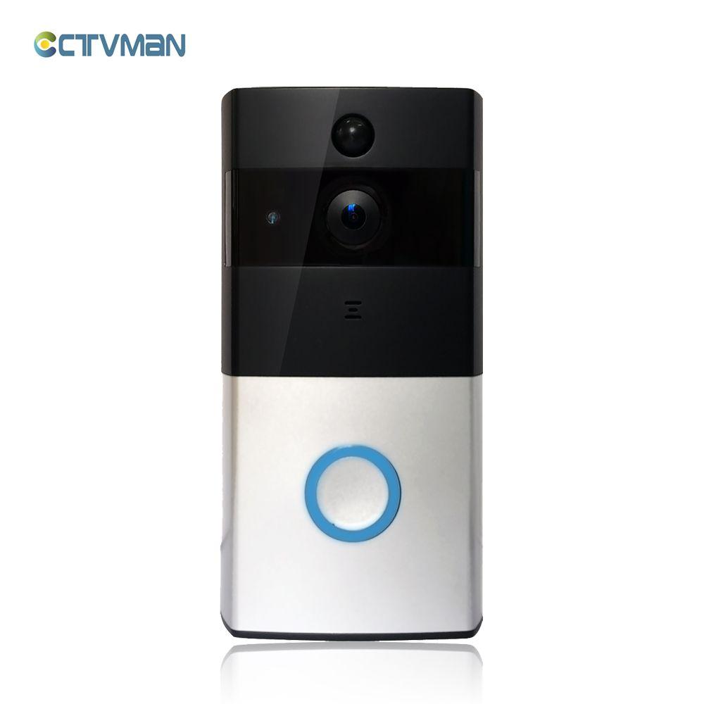 CTVMAN Sans Fil Vidéo Porte Téléphone HD PIR WIFI Sonnette Interphone 720 P IP Caméra Batterie Puissance Audio SD Fente Pour Carte En Plein Air sécurité