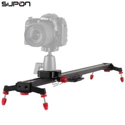 SUPON New 80cm Camera Slider DSLR Track Dolly Magic Tracks Video Stabilization Rail System for Nikon Canon Sony Photography