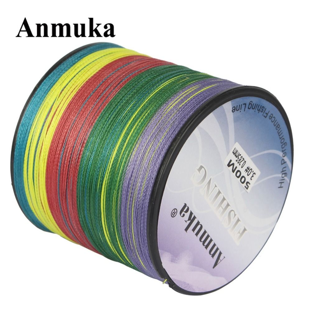 Anmuka PE Fishing Line 10M 1 Color 300M Multicolor Mulifilament Braided Japan 4 Strands Wires Japan Corp Fishing Saltwater