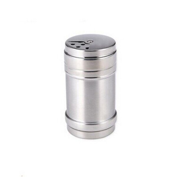 1Pcs Stainless Steel Dredge Salt / Sugar / Spice / Pepper Shaker Seasoning Cans with Rotating Cover
